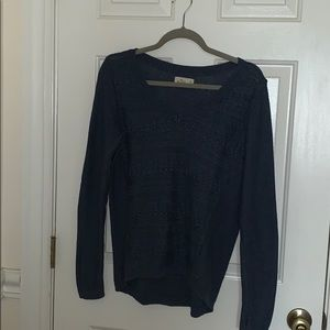 Hollister Navy Blue Sweater